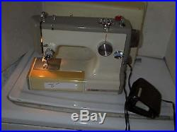 Portable Sears Kenmore Sewing Machine in Carrying Case