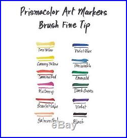 Premier Double Ended Art Markers Fine And Brush Tip 24 Count With Carrying Case