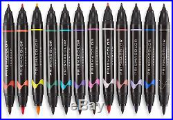 Prismacolor Double-Ended Art Markers Fine Brush Tip, 24 Ct withCarrying Case