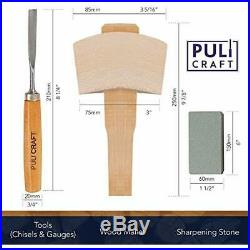 Puli Craft Wood Carving Tools Set Heavy Duty Woodworking Kit With Carry Case