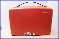 RARE! Genuine Bernina Record 830 Red Portable Carrying Case Cover Box