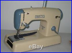 Rare Retro German Made Sewing Machine With Original Carry Case. Been Serviced