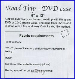 Road Trip Craft Quilting Pattern DVD/CD Carrying Case GE Designs 151