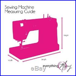 SEWING MACHINE CARRY CASE Rolling Storage Tote Luggage Trolley Travel Bag Pink