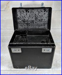 SINGER 221 FEATHERWEIGHT Sewing Machine Black Carry Case w Lift Out Tray Vtg 40s