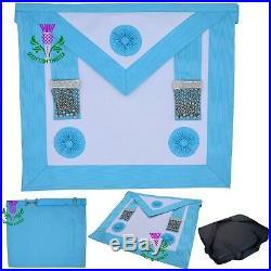 ST New Masonic Regalia Craft Worshipful Mason MM Apron past master (Lambskin)