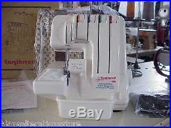 STITCHMASTER EASYTHREAD TABLE TOP OVERLOCKER 3 /4 THREAD with Free Carry Case