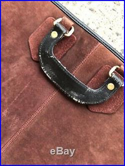 SUEDE & LEATHER Artwork Portfolio Carrying Case Artist 25 X 38 Extra Large