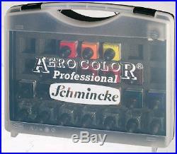Schmincke Kit 16 Colours Aero Gold 28 ML + 7 Blank in Carry Case (81124)