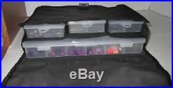 Scrapbook Stuff Nice Black Tote Organizer Craft Bag Carrying Case 11 1/2 x8