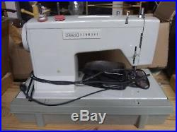 Sears Kenmore 1400 Green sewing machine heavy duty all metal+ carrying case. VGC