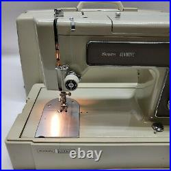 Sears Kenmore Portable Sewing Machine #5186 withFootPedal Case 158.15160 See Video