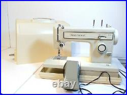 Sears Kenmore Portable Sewing Machine With Pedal & Carrying Case Model 158 -12110