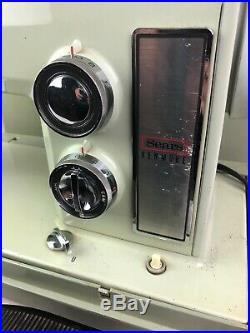Sears Kenmore Sewing Machine Retro Green Vintage Seamstress Tool Crafts Works