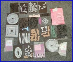 See pics Huge Bundle Cutting Dies, Embossing sheets/folders & two carry cases