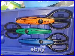 Set 39 Fiskars Craft Paper Edger Scissors And Punches With Hard Carrying Case