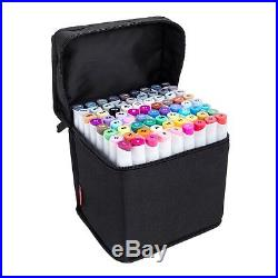 Set of 72 Assorted Colors Art Permanent Artist Sketch Markers with Carrying Case