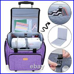 Sewing Machine Bag with Detachable Dolly, Carry Case for Sewing Machine