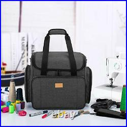 Sewing Machine Bag with Detachable Trolley Dolly, Carry Case for Sewing