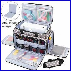 Sewing Machine Carrying Bag with Removable Pad, Travel Case for Sewing