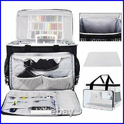Sewing Machine Carrying Case, Collapsible Trolley Bag with Wheels for Black