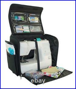 Sewing Machine Case Rolling Travel Bag Storage Carry Tote Cheetah Print