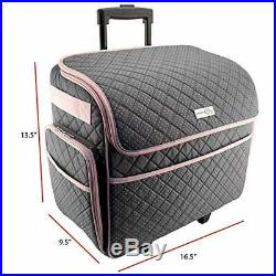 Sewing Machine Rolling Case On Wheel Large Storage Lightweight and Easy to Carry