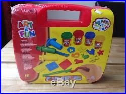 Simba Art and Fun Soft Modelling Dough Craft Carrying RED case BNIB NEW