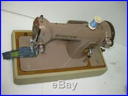 Singer 185k Electric Foot Pedal Operated Sewing Machine With Carry Case. Lot 2