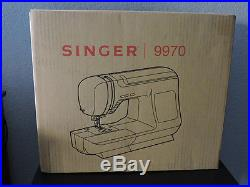 Singer 9970 Computerized Professional Sewing Machine cabinet carry case included
