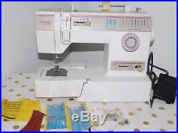 Singer Sewing Machine 9410 zigzag free arm+carrying case+samples (D77)