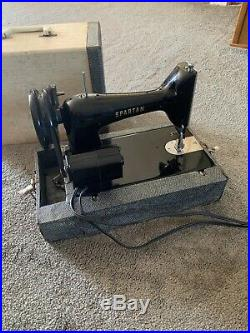 Singer Spartan Model 192K Sewing Machine Working Great With Carrying Case