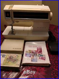 Singer Touch Tronic 2001 Sewing Machine withaccessories carrying case manual
