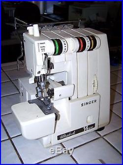 Singer Ultralock 14U32 14U32A Serger Sewing Machine with Bag Carrying Case