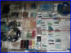Swarovski Crystal / Jewelry Making Kit mix @ ¼ The Cost! 2 carry kits w cases