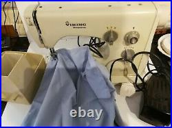 Swedish Viking Husqvarna 1010 Electric Sewing Machine in carry case with manual
