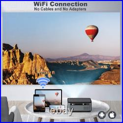 TOPTRO Bluetooth WiFi Projector with Carrying Case, 7500 Lux Native Black