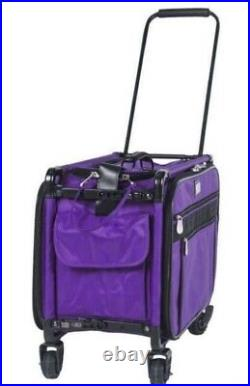 TUTTO Machine On Wheels Case Purple 5222PMA Large Carrying Case NEW
