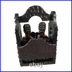 Tantalus Liquor Decanter Set Hand Crafted From Spanish Wood Mountain Artisan MCM