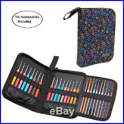 Teamoy Crochet Hook Case, Travel Carry Bag for Ergonomic Crochet Hooks Kits, and