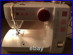 Toyota sewing machine RS2000 Series Foot Pedal Carry Handle Red/Pink Bobbin Case