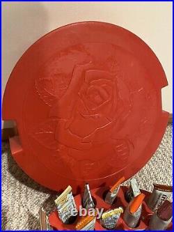 Tri Chem Embroidery Paints Vintage Rose Carrying Case 48 Paints