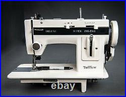 Tuffsew Zigzag 7 industrial walking foot sewing machine with carrying case, light