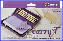 Tulip Carry T Interchangeable Bamboo Tunisian Hook Set-WithCase