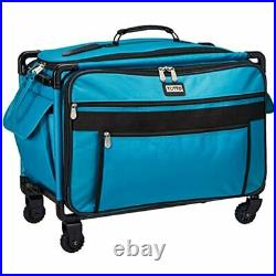 Tutto 9224TMA Turquoise Sewing Machine On Wheels Case, 25 18.5 13