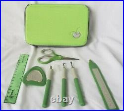USED CRICUT TOOLS Provo Craft TOOL KIT Green Carrying Case NO Replacement Blades