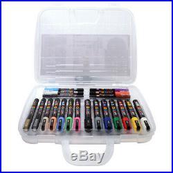 Uni Posca Marker Pens NEW EDITION 20 Pen Set CARRY CASE INCLUDED