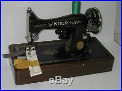 Vintage Cast Iron 99k Electric Sewing Machine With Carry Case