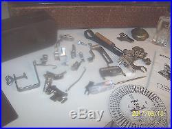Vintage Pfaff 130-6 Sewing Machine, Attachments, Manuels Works Carry Case
