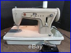 VTG SINGER SEWING MACHINE MODEL 177C (BRAZIL) with MANUAL, CARRY CASE TESTED